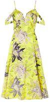 Topshop Floral jacquard prom midi dress