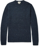 Hackett - Suede-trimmed Stretch Wool And Cashmere-blend Sweater