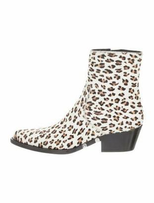 Calvin Klein Calf Hair Tiesa Ankle Boots w/ Tags White Calf Hair Tiesa Ankle Boots w/ Tags