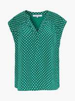 Gerard Darel Norma Polka Dot Blouse, Green