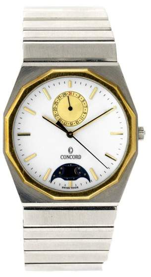 Concord 18K Yellow Gold & Stainless Steel Mens Watch
