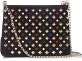 Christian Louboutin Triloubi embellished leather shoulder bag