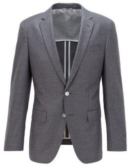BOSS Slim-fit jacket in stretch wool flannel