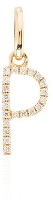 Rosa De La Cruz 18kt yellow gold diamond P charm