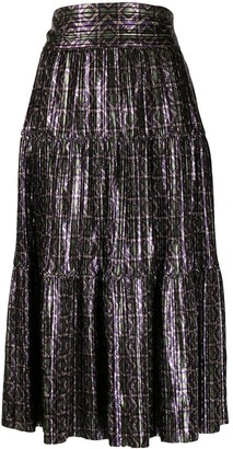 BA&SH Prisca geometric-print skirt