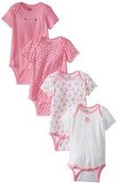 Gerber Baby-Girls Infant Cat 4 Pack Variety Onesies Brand