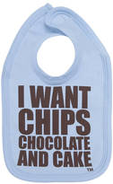 Snuglo I Want Chips Chocolate And Cake Cool Baby Bib