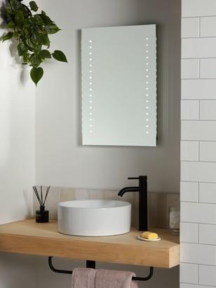 John Lewis & Partners Pixel Wall Mounted Illuminated Bathroom Mirror, Medium