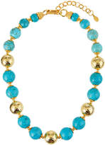 Jose & Maria Barrera 20mm Turquoise Bead Necklace