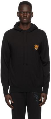 Moschino Black Bear Logo Hoodie
