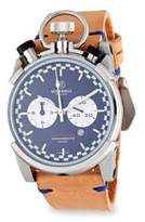 CT Scuderia Corsa Cafe Racer Stainless Steel & Leather Strap Watch