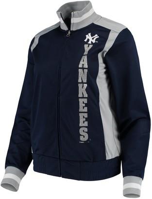 New York Yankees Women's G-III 4Her by Carl Banks Navy On Deck Full-Zip Track Jacket