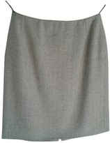Gianni Versace Grey Wool Skirt for Women