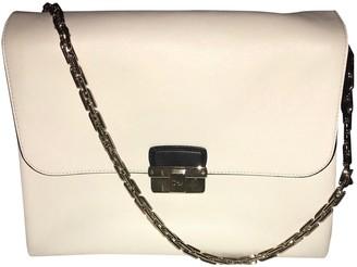 Christian Dior Diorling Ecru Leather Handbags
