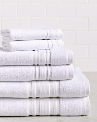 Melange Home 6Pc Turkish Cotton Towel Set