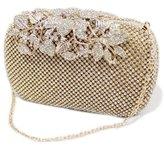 Donalworld Women Crytal Floral Wedding Diamond Clutch Bling Metal Evening Handbag