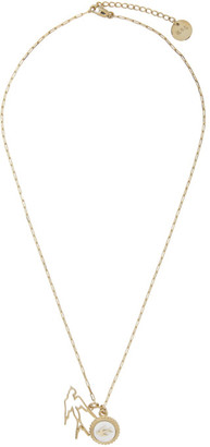 McQ Gold Swallow Charm Necklace