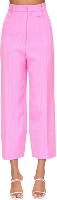 Jacquemus High Waist Gabardine Crop Pants