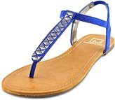 Material Girl Sage Women US 10 Blue Thong Sandal