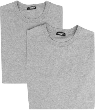 DSQUARED2 logo-cuff T-shirt twin pack