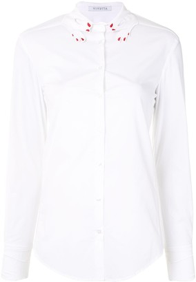 VIVETTA Embroidered Hand-Collar Shirt