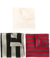 Ann Demeulemeester pocket square pack - men - Silk/Cotton/Linen/Flax/Rayon - One Size