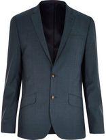 River Island MensGreen slim suit jacket