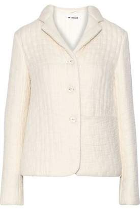 Jil Sander Organza-appliqued Wool And Silk-blend Jacket