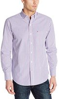 Izod Men's Essential Tattersall Long Sleeve Shirt
