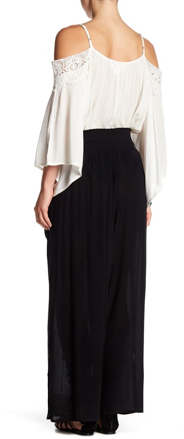 Band of Gypsies Embroidered Wide Leg Pant