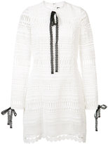 Alexis laced detail dress - women - Polyester/Spandex/Elastane - L