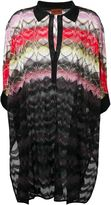 Missoni polo collar knit tunic - women - Rayon - S