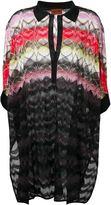 Missoni polo collar knit tunic - women - Rayon - S