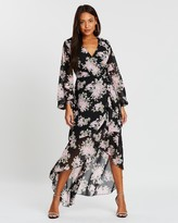 Missguided High-Low Balloon Sleeve Midi Dress