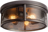 Rejuvenation Crockett Industrial Flush Mount