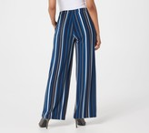 Susan Graver Petite Printed Liquid Knit Wide-Leg Pants