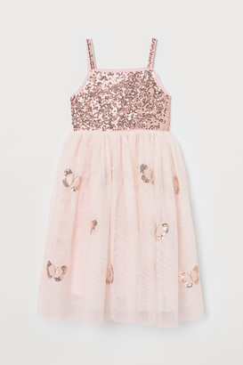 H&M Sequined Tulle Dress