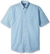Cutter & Buck Men's Big & Tall Short-Sleeve Mars Plaid Shirt