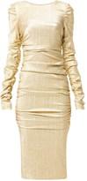 Dolce & Gabbana lame draped dress