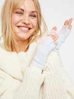 Free People Holland Color Block Fingerless Gloves