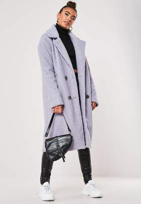 Missguided Lilac Double Breasted Coat