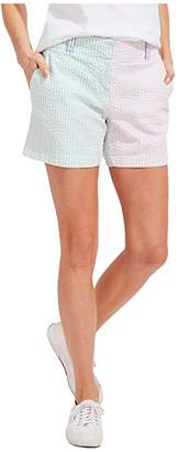 Vineyard Vines Party Seersucker Every Day Shorts (Multi) Women's Clothing