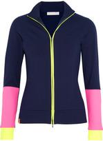 Monreal London Color-block Stretch-jersey Jacket - Navy