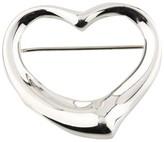 Tiffany & Co. Elsa Peretti Sterling Silver Open Heart Pin Brooch