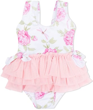 MonnaLisa Floral-Print Swimsuit