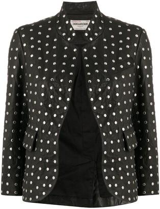 Zadig & Voltaire Verys Cuir Studs jacket