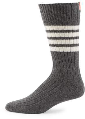 Thom Browne Mid-Calf Chunky Ribbed Socks