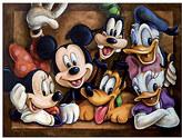 Disney Mickey Mouse ''The Gang'' Giclée by Darren Wilson