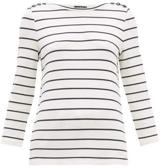 A.P.C. Myrtille Breton-striped Top - Womens - Navy White