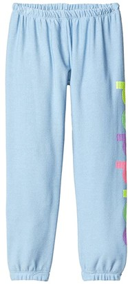Chaser Puppies Cozy Knit Lounge Pants (Toddler/Little Kids) (Bluebell) Girl's Casual Pants